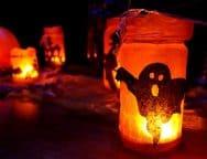 Fall Dark Halloween Decoration Glowing Glow