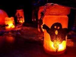 Fall Dark Halloween Decoration Glowing Glow